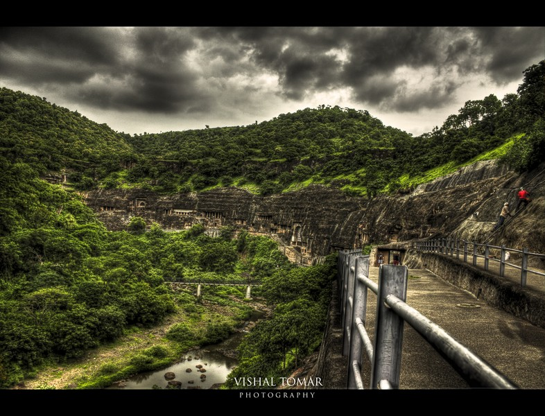 Ajanta caves, from where its discoverer saw it first.