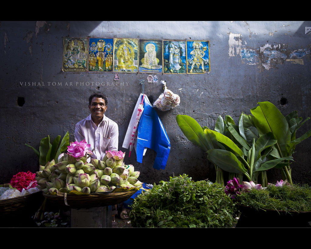 Monsoon and the Flower market.