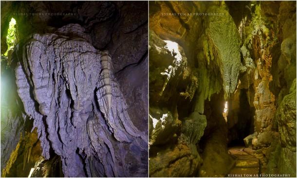 Limestone caves.
